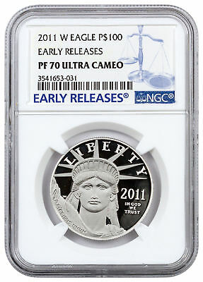 2011-W $100 1 oz. Proof American Platinum Eagle NGC PF70 UC ER SKU23337