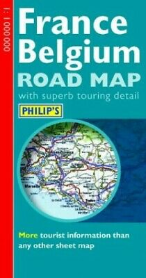 Philip's Road Map of France and Belgium Sheet map, folded Book The Fast Free
