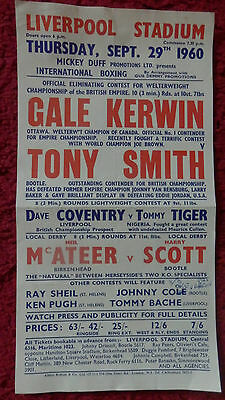 Liverpool Stadium - Boxing Poster 1960