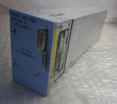 Microdyne 1135-I(B) Second IF Filter / Amplifier Model 6.0 MHz