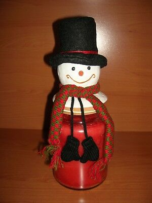 VHTF and VERY VINTAGE Jack Frost Yankee Candle Jar Topper OH SO CUTE