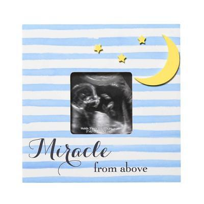 New C.R. Gibson Miracle From Above Photo Sonogram Picture Frame - 7 inch x 7