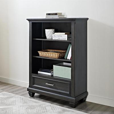 New Bertini Nashville Knox Bookcase - Weathered Charcoal Model:9F4D8836