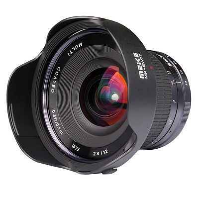 Meike 12mm f/2.8 Ultra Wide Angle Lens for M4/3  Panasonic GF5 6 7 GH3 4 Camera