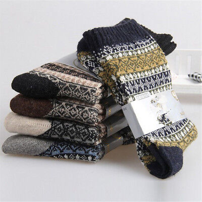 1 Pairs Mens 100% Wool New Socks Cashmere & Winter Warm & Comfortable Thick Cost