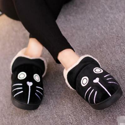NEW Couple Cotton Slippers Winter Cats Dogs Home Indoor Thick Cute Plush Shoes