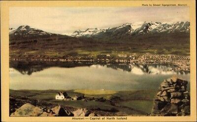 Ak Akureyri Island, Capital of North Iceland, Panoramaansicht der... - 1678745