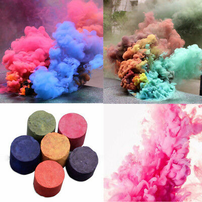Smoke Cake Smoke Effect Show Round Bomb Photography Aid Toy Divine Gift 5 Colors