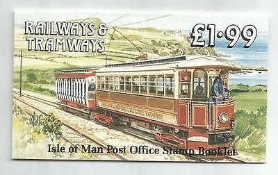 Isle Of Man 1988 £1.99 Railways & Tramways Booklet Sb19
