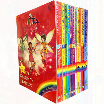 Rainbow Magic Series 1&2 Colour & Weather Fairies Collection 14 Books Set NEW