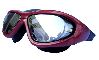 Qishi's Super Big Frame No Press the Eye Swimming Goggles for Adult RED NEW