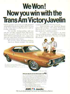 1973 American Motors Javelin ***original Ad*** Trans Am