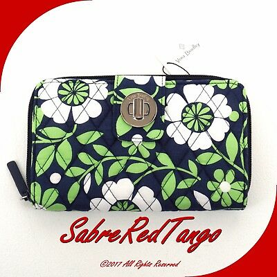 Nwt Vera Bradley Quilted Turn Lock Wallet Floral Lucky You