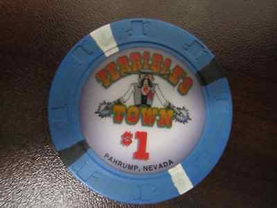 $1 TERRIBLE'S TOWN PNV Gaming Casino Chip for Collection Vintage good Condition