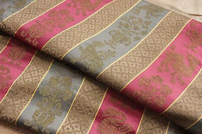 Arts and Crafts Heraldic Gothic revival style c 1880 French silk cotton curtain