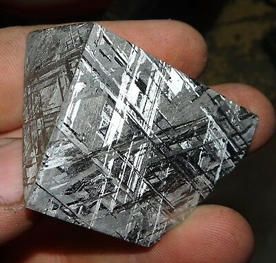 Beautiful 154 Gm Etched Gibeon Meteorite Quad Cut From Namibia