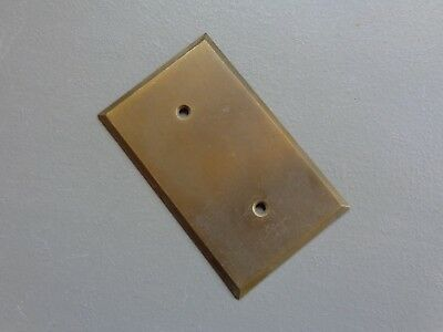 Vintage Heavy Brass Soild Outlet Light Switch Cover Plate Old Tarnish