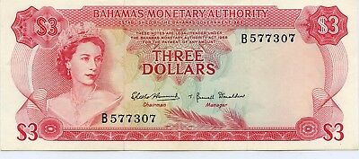 1968 Bahamas 3$ Currency Note.....starts @ 2.99