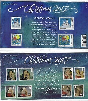 Great Britain 2017 Christmas Presentation Pack Unmounted Mint, Mnh