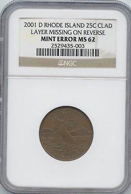 2001-D Ri 25¢ Rev. Clad Layer Missing Ngc