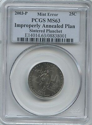 2003 Ill. 25¢ ~ IMPROPERLY ANNEALED PCGS MS-63
