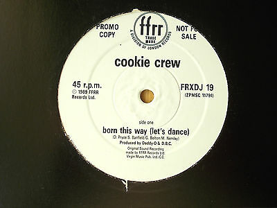"Cookie Crew Born This Way (Let's Dance) 12"" Promo Single 1989 Excellent"