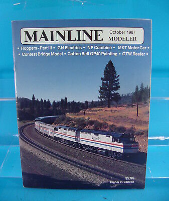 ALCO PA-3 MAINLINE MODELER MAGAZINE MARCH 1987 W/&LE DEPOT C/&NW TOOL HOUSE