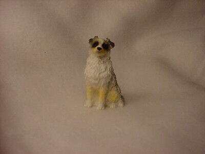AUSTRALIAN SHEPHERD puppy TiNY FIGURINE Dog MINIATURE Mini BLUE MERLE AUSSIE New