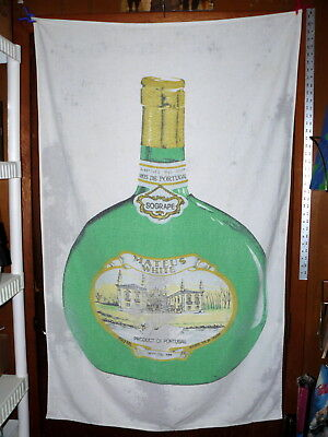 "Vintage! MATEUS WHITE WINE ""Bottle"" BEACH TOWEL @ Sogrape MADE in PORTUGAL"