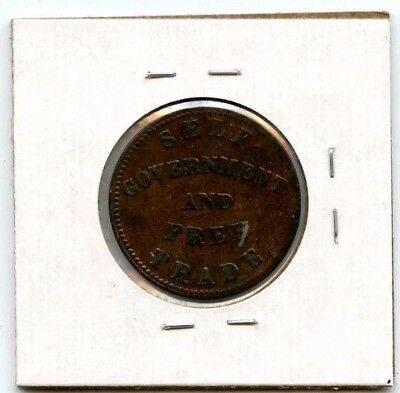 1855 Prince Edward Island Token Self Government And Free Trade.....starts @ 2.99
