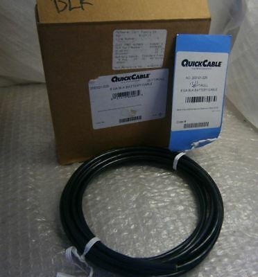QuickCable 8GA Black Battery Cable - 17.25 FT