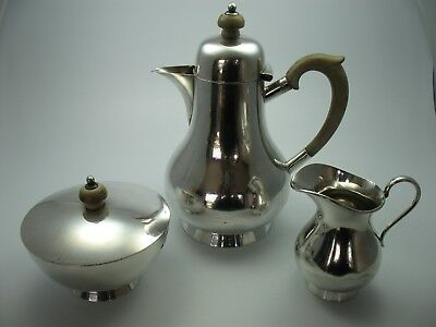 Atkin Brothers Sheffield Massive Sterling Silver Tea Service by 1933