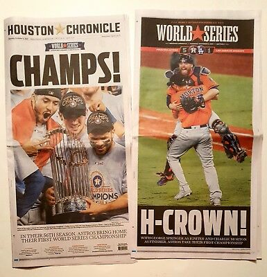 Houston Astros 2017 World Series Champions FULL Chronicle Newspaper! WS Champs