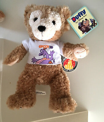 Epcot 30th Anniversary Figment Shirt Disney Duffy Bear 12 in  NEW Mickey Mouse