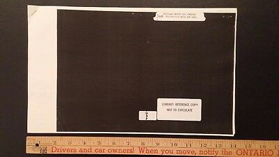 1918 CADILLAC - B&W Engineering Data - Library Reference - Good Condition (US)