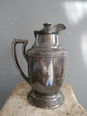 VINTAGE 1930's HOTEL NEW YORKER SILVER PLATED INSULATED PITCHER