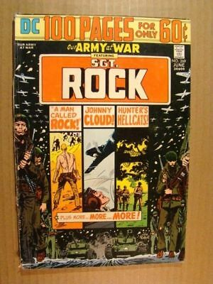 Our Army At War 269 Dc Giant Special 1974 100 Pages Sgt Rock Kubert Art