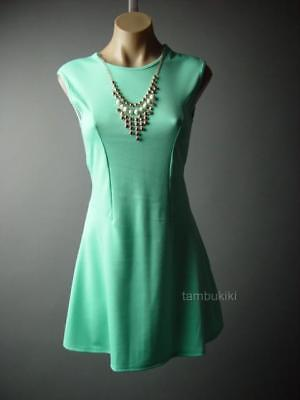 0dcd4ed8a0f3 Sale Mint Green Statement Necklace Fit and Flare Party Skater 78 mv Dress S  M L