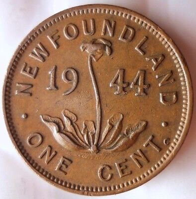 1944 C NEWFOUNDLAND CENT - KEY Great Low Mintage Coin- FREE SHIP - Canada Bin Z