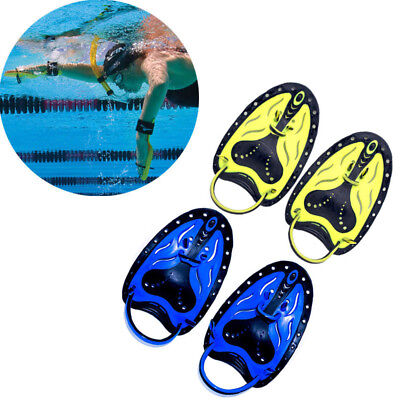 Swimming Aids Stroke Efficiency Training Glove Silicone Hand Webbed Paddles