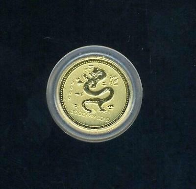 2000 Australian $5.00 1/20 Ounce Year of The Dragon Gold Coin
