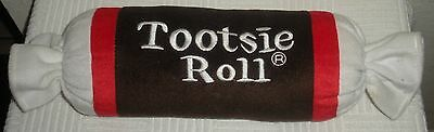 "2004 Good Stuff TOOTSIE ROLL 17"" Plush Pillow w/ Embroidered Writing"