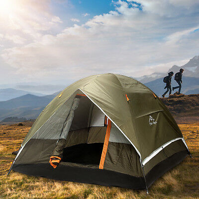Trip 4 Person C&ing Tent Double-layer Strong Waterproof Family Outdoor Hiking & Malamoo 3 Second Quick Waterproof 2 Person Hiking Camping Pop Up ...