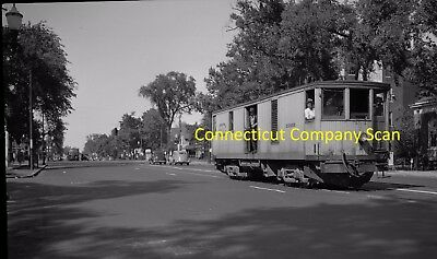 Connecticut Company Original B&w Trolley Negative Of Freight Car 2022
