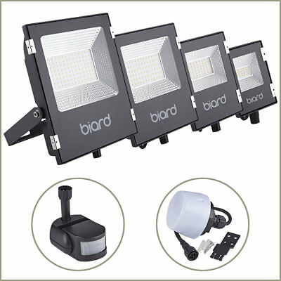 10W 20W 30W 50W LED Black Security Flood Light Motion Sensor Dusk Till Dawn PIR