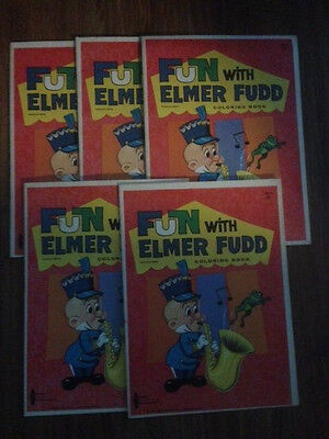 (5)Vintage Fun With Elmer Fudd Coloring Books * 1963 Warner Bros. *