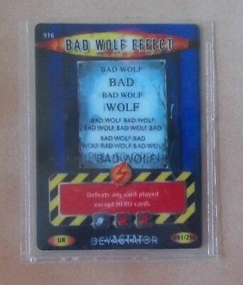Dr Doctor Who BATTLES IN TIME Devastator ULTRA RARE CARD 916 BAD WOLF EFFECT