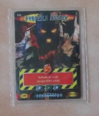 Dr Doctor Who BATTLES IN TIME Devastator ULTRA RARE CARD 896 PYROVILE ATTACK