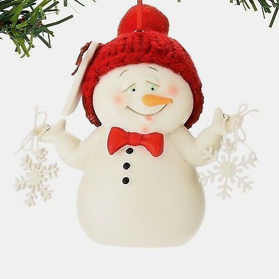 Dept 56 Snowpinions Mini Snowman 'stem Cells' Xmas Tree Ornament  3""