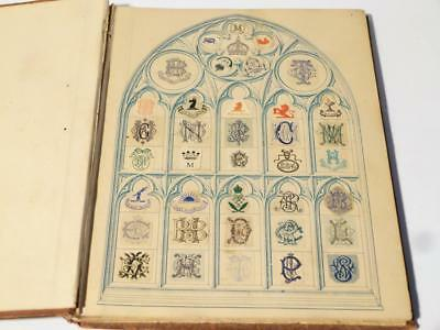 Antique Victorian Edwardian Embossed Crests Monograms Coats of Arms  #13